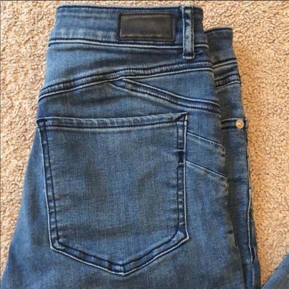 Express - Perfect lift, raw hem jeans/leggings